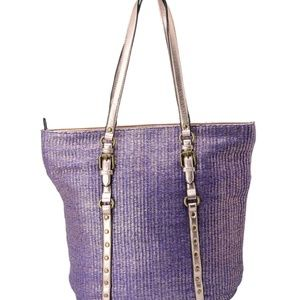 Tote Bag Ladies Shoulder Satchel Purple